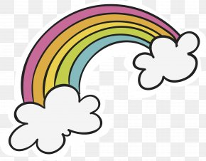 Hand Painted Cloud Rainbow - Rainbow Clip Art PNG