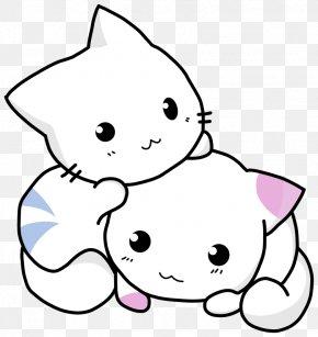 Two Cats - Kitten Cat Giant Panda Clip Art PNG