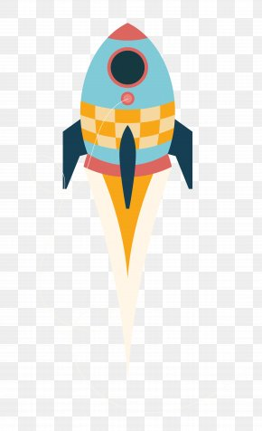 Flat Rocket - Rocket Flat Design Icon PNG
