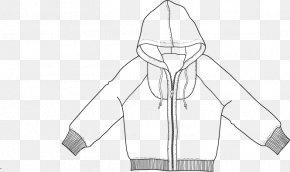Zipper Sweater - Outerwear White Line Art Sketch PNG