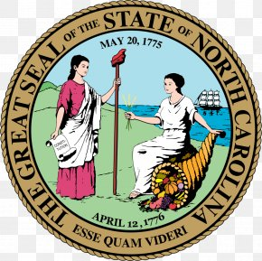 Nc Cliparts - Seal Of North Carolina U.S. State Symbol Flag Of North Carolina PNG