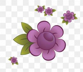 Purple Flower Design - Violet Designer PNG