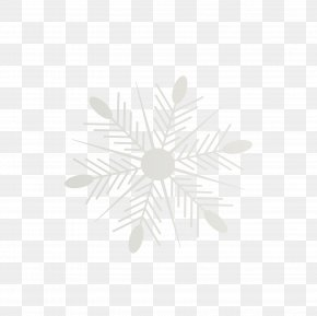 Snowflake - White Symmetry Pattern PNG