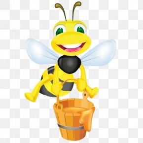 Honey Bee - Honey Bee Beehive Honeycomb PNG