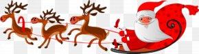 Santa Claus - Santa Claus's Reindeer Santa Claus's Reindeer Christmas Clip Art PNG