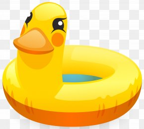 Duck Swimming Ring Clip Art Image - Swim Ring Swimming Pool Clip Art PNG