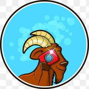 Little Goat Camera - Goat Cartoon Clip Art PNG