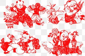 Chinese New Year Festive Red Vector Material - Red Chinese New Year Clip Art PNG