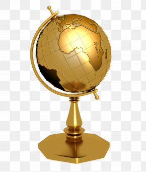 Golden Globe - Globe 3D Rendering PNG