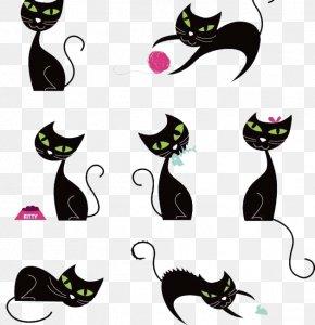 Cat Creative Illustration - Le Chat Noir Black Cat Silhouette PNG