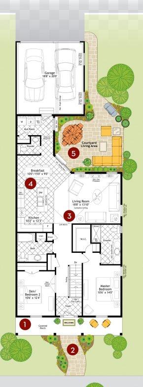 Plan - House Courtyard Garage Floor Plan Moroccan Riad PNG