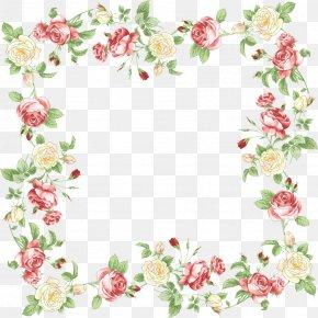 Flower Border - Borders And Frames Floral Design Flower Clip Art PNG