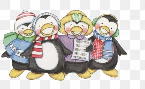 Penguin - Penguin Painting Christmas Drawing PNG