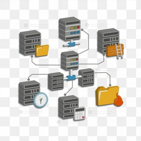 Server And Folders - Database Server Download Icon PNG