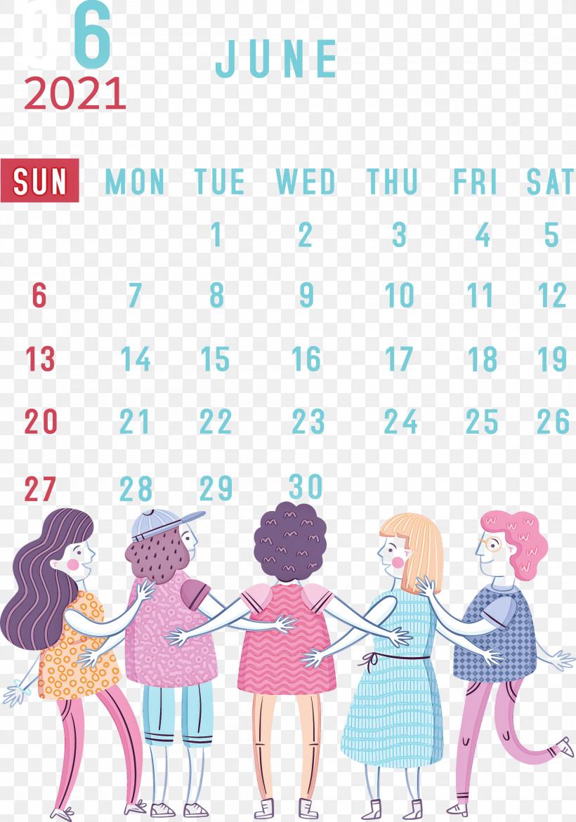 June 2021 Calendar 2021 Calendar June 2021 Printable Calendar, PNG, 2100x3000px, 2021 Calendar, Classroom, Communication, Culture, Education Download Free