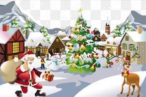Merry Christmas - Santa Claus Snow Christmas PNG