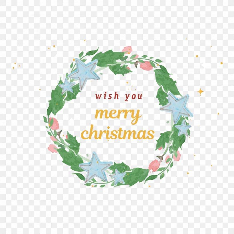 Watercolor Christmas Wreath Png.Watercolor Painting Christmas Wreath Png 2222x2222px