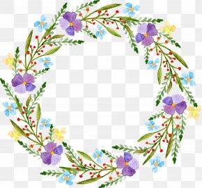 Vector Painted Garlands - Flower Bag Adobe Illustrator Wreath PNG