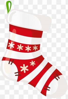 Christmas Stocking White Transparent Clip Art - Christmas Stocking Clip Art PNG