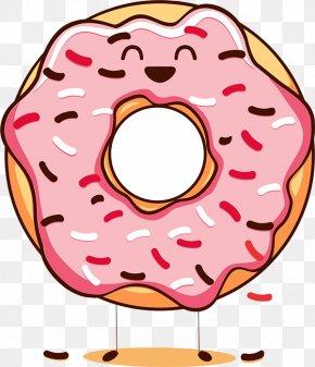 Donut Cartoon - Happy Donuts National Doughnut Day Cream Clip Art PNG
