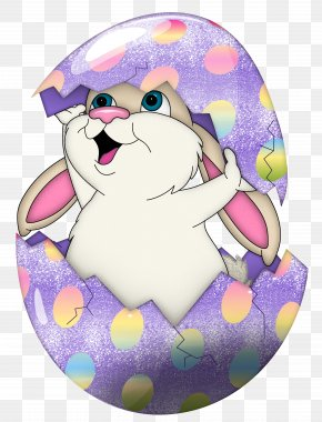Cute Purple Easter Bunny In Egg Transparent Clipart - Easter Bunny Egg Hunt Easter Egg Clip Art PNG