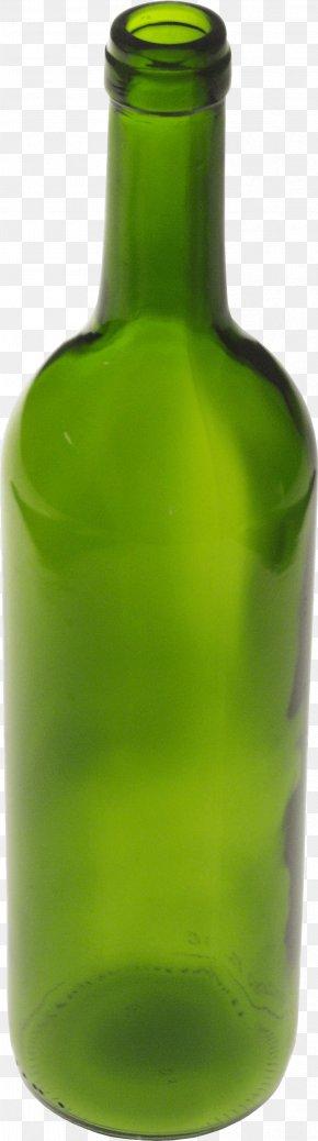 Greem Glass Bottle - Glass Bottle Clip Art PNG
