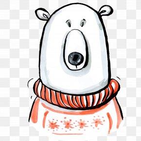 Polar Bear Material - Polar Bear T-shirt Christmas Santa Claus Gift PNG