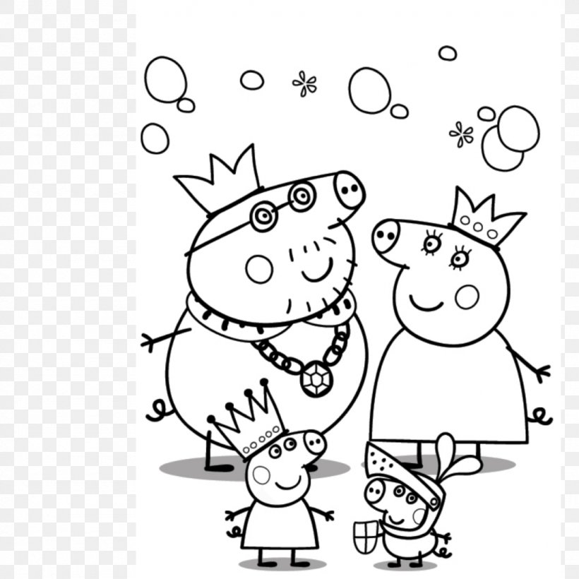 Mummy Pig Daddy Pig Grandpa Pig Peppa Pig Coloring Pages, PNG ...
