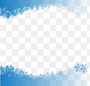 Vector Hand-painted Snowflake Border - Snowflake Computer File PNG