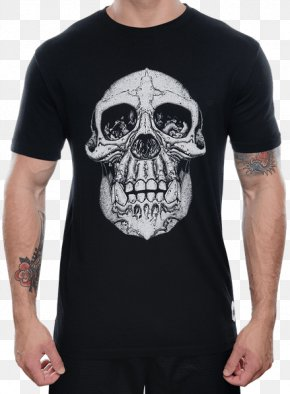 T-shirt Skull - T-shirt Onnit Labs Clothing Sleeve PNG