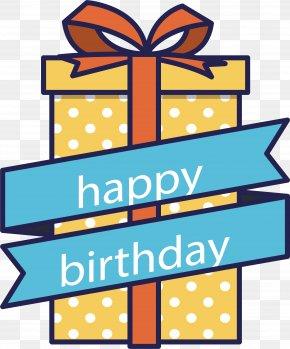 Red Birthday Present - Birthday Cake Gift Clip Art PNG