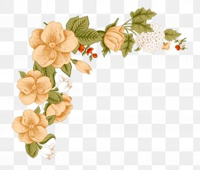 Small Fresh Floral Borders - Flower Floral Design Clip Art PNG