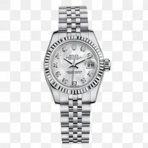Silver Rolex Watch Watches Female Form - Rolex Datejust Rolex Daytona Watch Rolex GMT Master II PNG