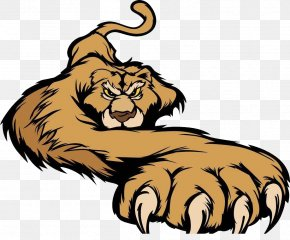 The Lion Gets On The Ground - Cougar Lion Tiger Black Panther Clip Art PNG