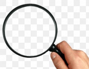 Holding A Magnifying Glass - Magnifying Glass Icon PNG