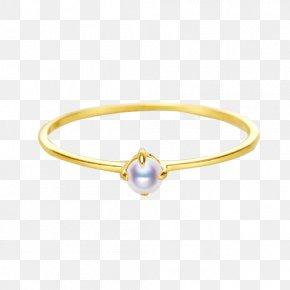 Japanese Akoya Seawater Pearl Ring - Bangle Ring Akoya Pearl Oyster PNG