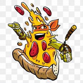 Pizza Ninja - Michelangelo Pizza Teenage Mutant Ninja Turtles Illustration PNG