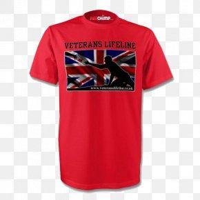 Printed T Shirt Red - Printed T-shirt Hoodie Sportswear PNG
