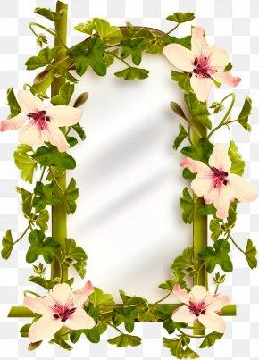 Garland Border - Floral Design Flower Wreath PNG