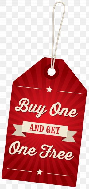 Buy One Get One Free Label Clipart Image - Buy One, Get One Free Buffet Clothing Icon PNG