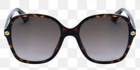 Sunglasses - Gucci Sunglasses Designer Fashion Havana PNG