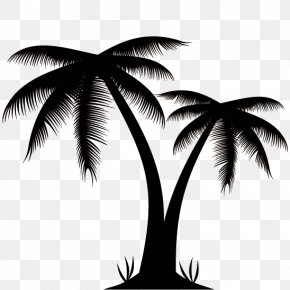 Silhouettes Of Palm Trees - Arecaceae Euclidean Vector Stock Photography Clip Art PNG