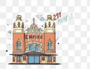 Cartoon Hotel Building - Hotel Gratis Icon PNG