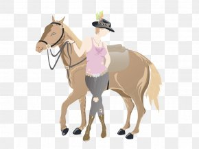 Fashion Jeans - Mule Horse Pony Cowboy Illustration PNG
