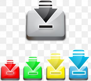 Vector Download Button - Download Button Arrow Computer File PNG