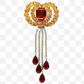 Ruby Love Pendant - Jewellery Gemstone Ruby Diamond Brooch PNG