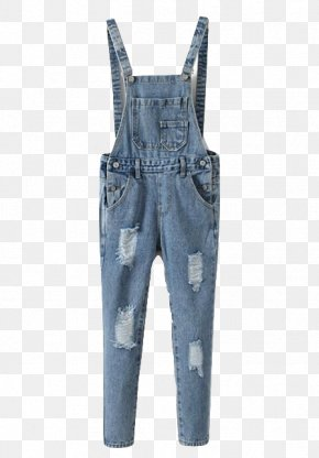 Ripped Denim - Jeans Denim Overall Pocket Clothing PNG