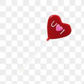 Love Lollipop - Lollipop Red Love Font PNG