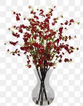 Cherry Blossom - Floral Design Cherry Blossom Flower Vase PNG