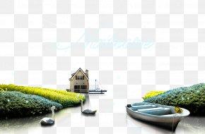 Boat House Landscape - Download Computer File PNG